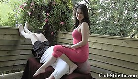 AS - Severe Pink Legging Face Sitter (Ass Smothering)